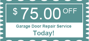 $75.00 OFF - Garage Door Repair Service Today